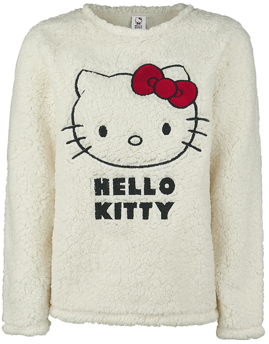 Merch dla Fanów - Bluzy - Bluza damska Hello Kitty Hello Kitty Classic Bluza damska biały (Old White) - 351661