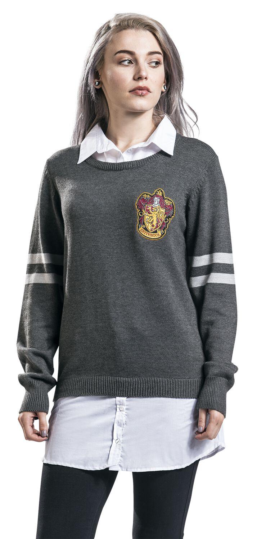 Image of   Harry Potter Gryffindor Girlie sweatshirt grå-hvid