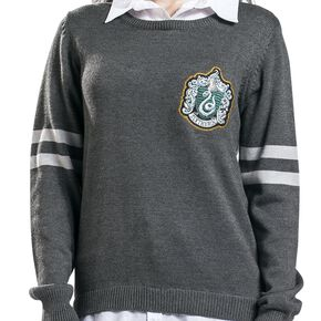 Harry Potter Serpentard Sweat-shirt Femme gris/blanc