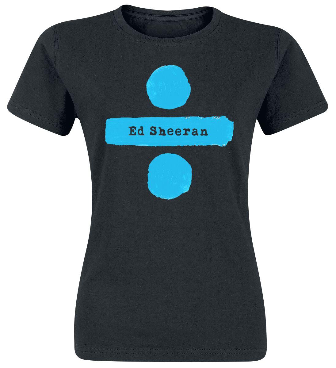 Zespoły - Koszulki - Koszulka damska Ed Sheeran Divide Logo Koszulka damska czarny - 351718