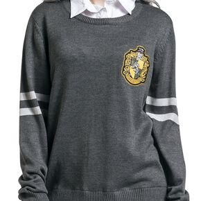 Harry Potter Poufsouffle Sweat-shirt Femme gris/blanc