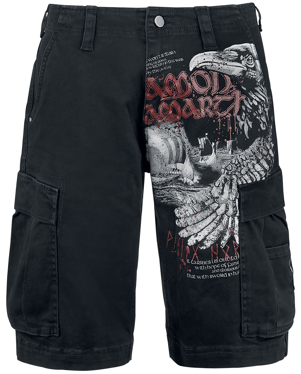 Image of   Amon Amarth Raven Cargo shorts sort