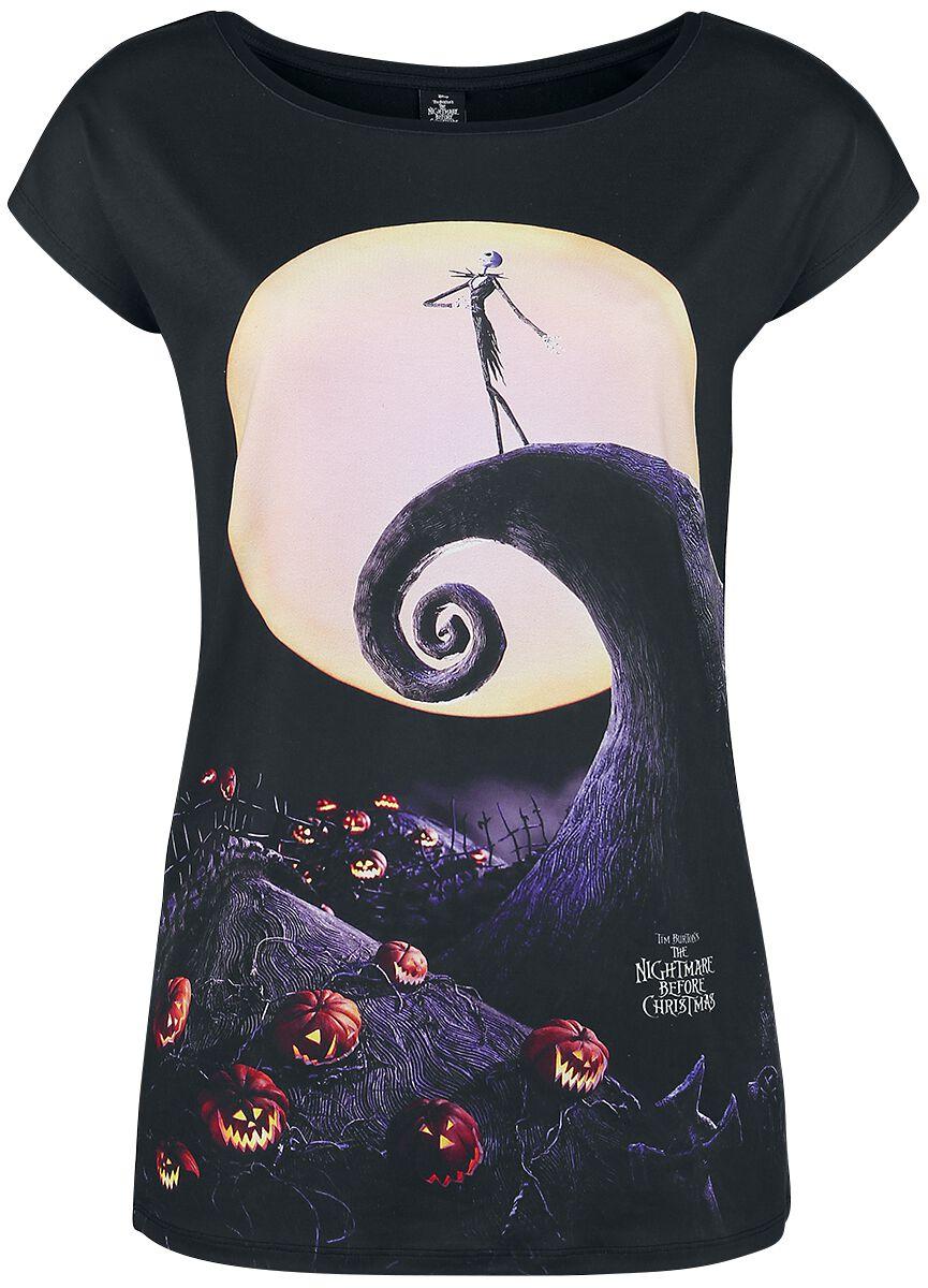 Image of   The Nightmare Before Christmas Moonshiner Girlie trøje sort