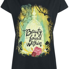La Belle Et La Bête Beauty Is Found Within T-shirt Femme noir