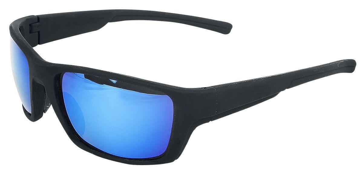 Basics - Okulary - Okulary przeciwsłoneczne Classic Sports Okulary przeciwsłoneczne czarny/niebieski - 351926