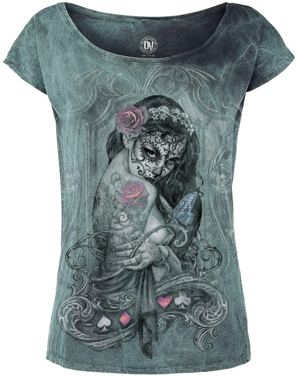 Image of   Alchemy England Widow's Weed Girlie trøje turkis