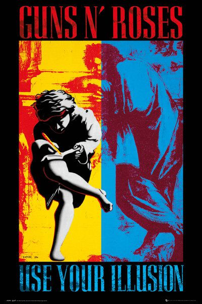 Image of   Guns N' Roses Illusion Plakat multifarvet