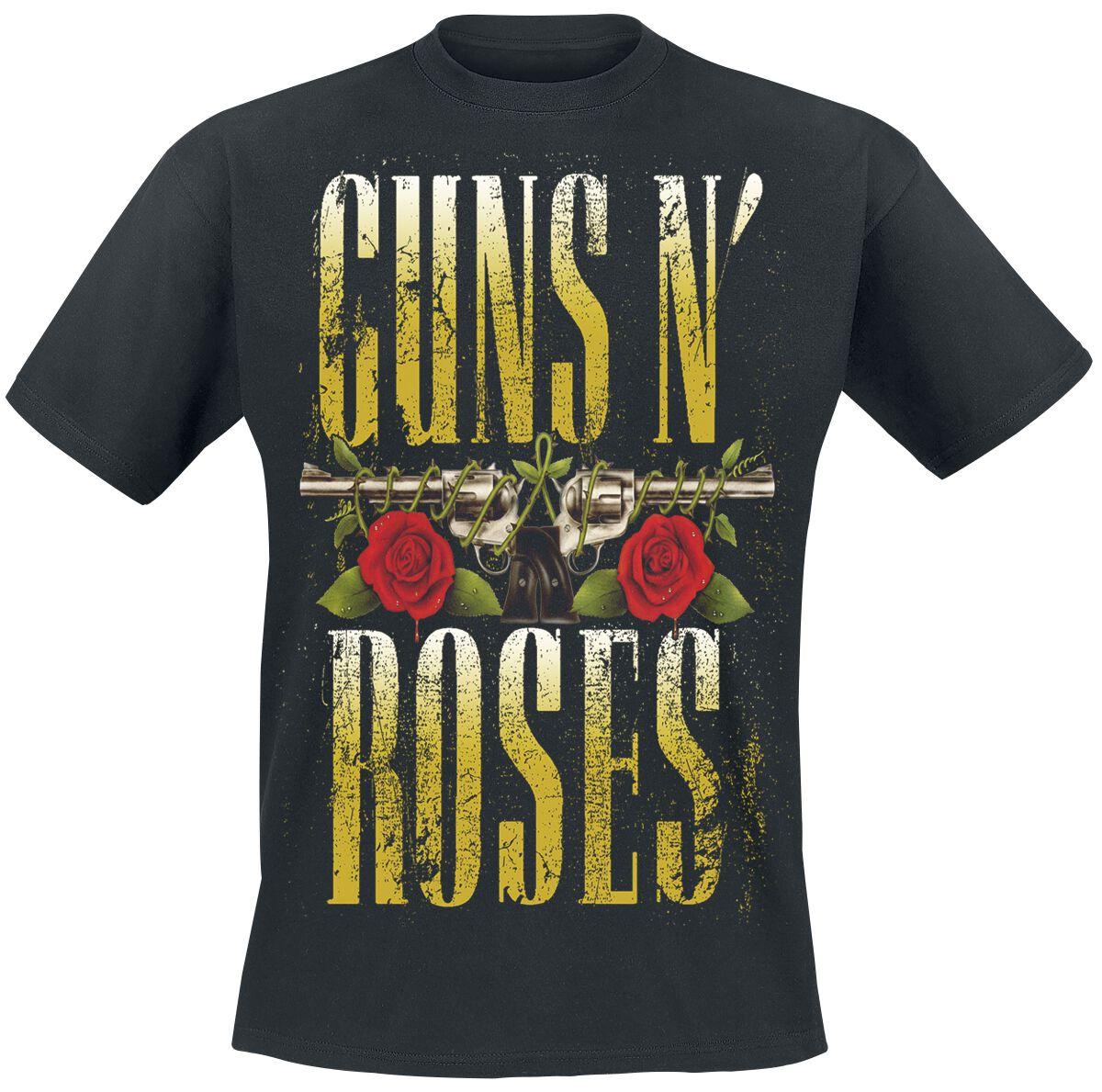 Image of   Guns N' Roses Big Guns T-Shirt sort