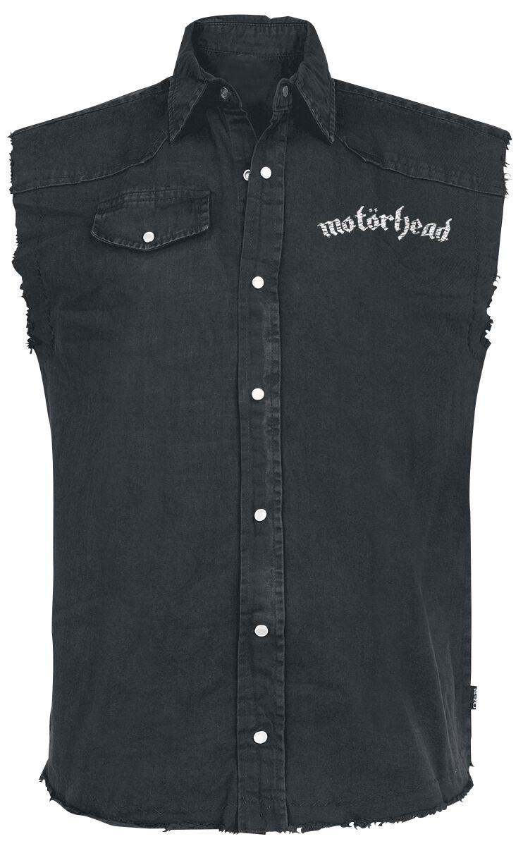 Image of   Motörhead England Ærmeløs arbejdsskjorte sort