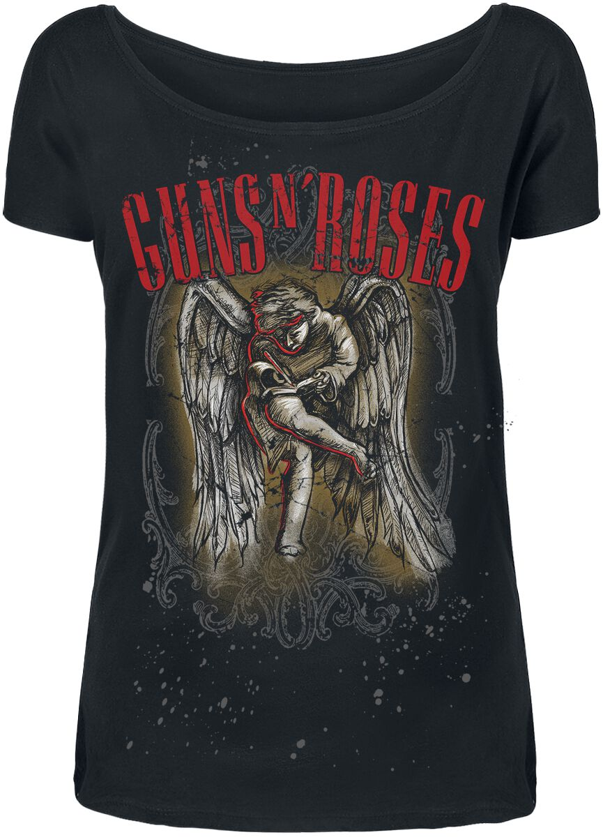 Image of   Guns N' Roses Sketched Cherub Girlie trøje sort