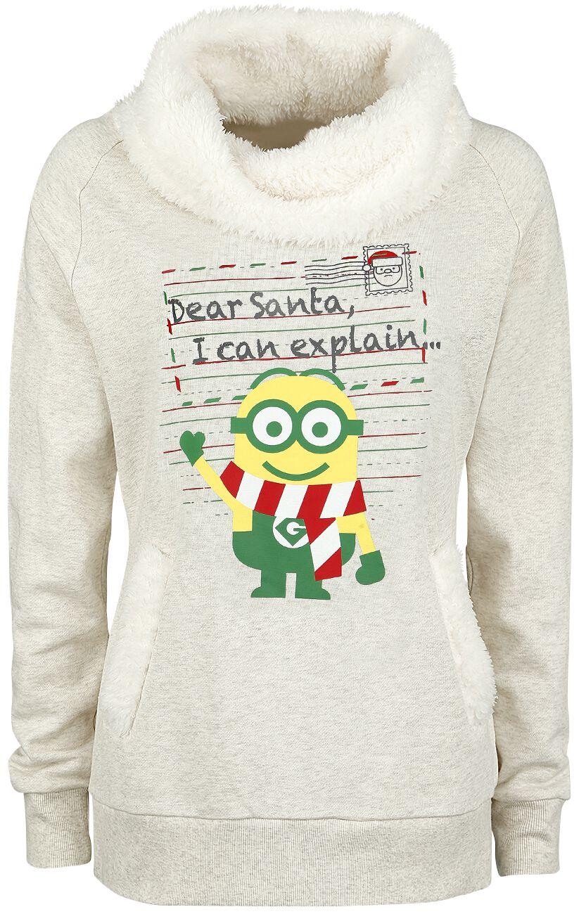 Image of   Minions Dear Santa Girlie sweatshirt blakket beige