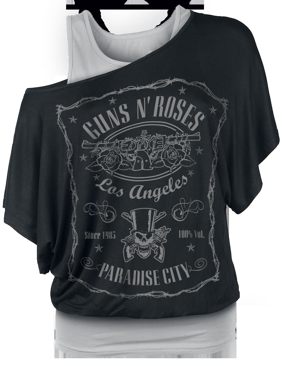 Guns N' Roses Paradise City Label Koszulka damska czarny/szary