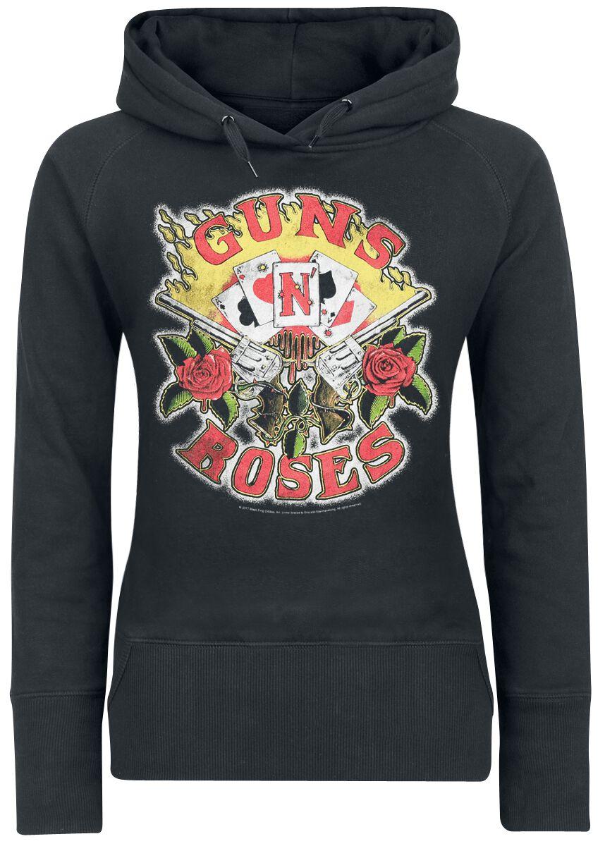 Image of   Guns N' Roses Cards Girlie hættetrøje sort