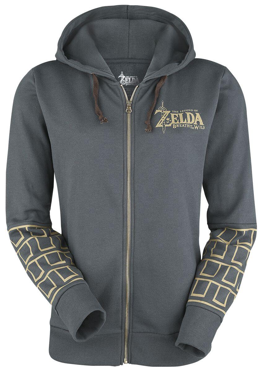 Image of   The Legend Of Zelda Breath Of The Wild Girlie hættejakke gråblå
