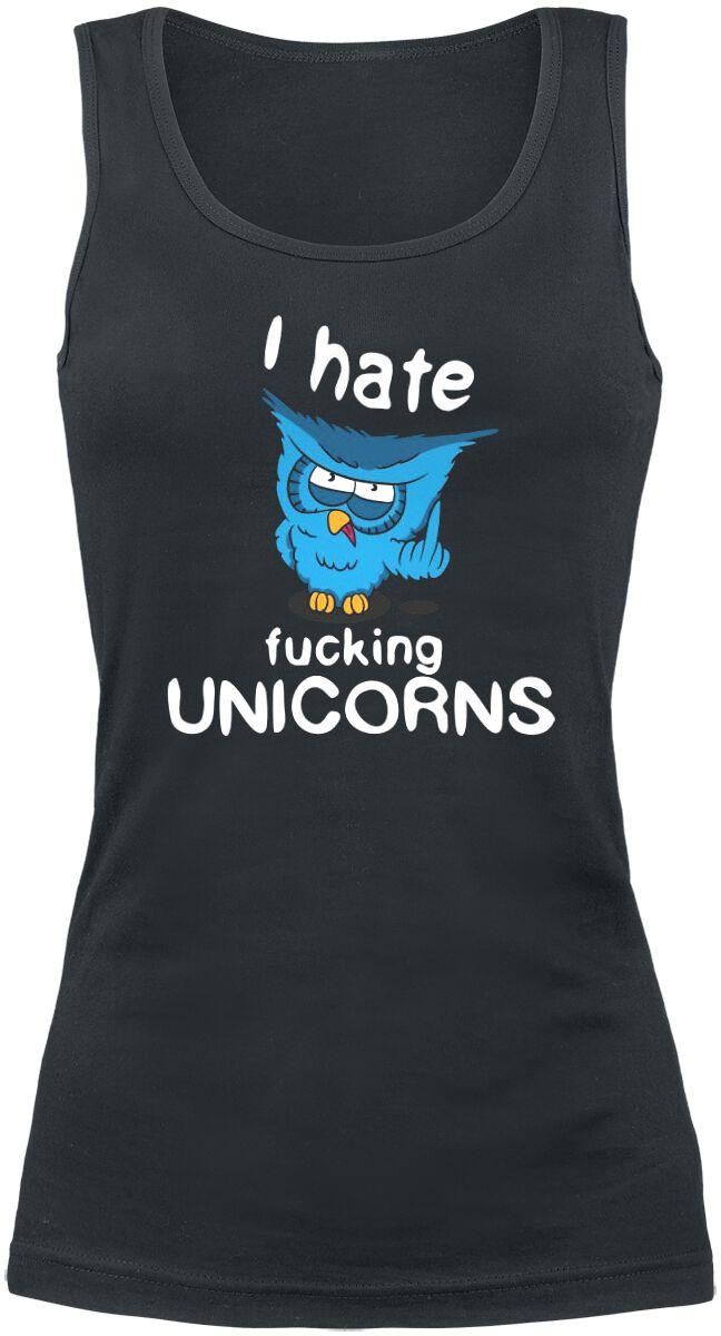 Fun Shirts - Topy - Top damski I Hate Fucking Unicorns Top damski czarny - 352163