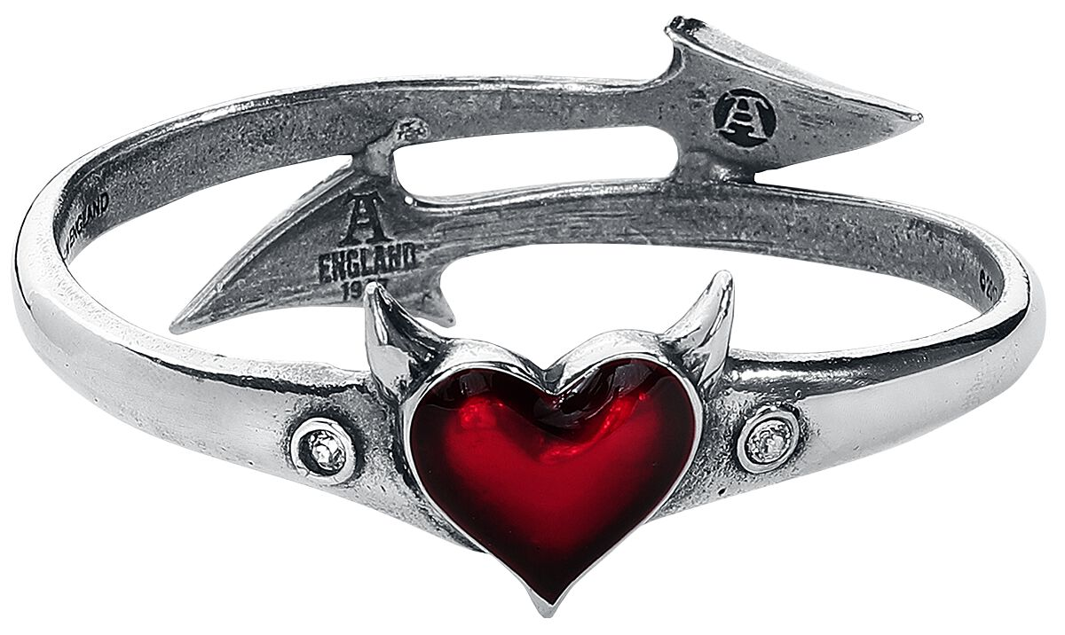 Image of   Alchemy Gothic Devil Heart Bangle Armbånd Standard