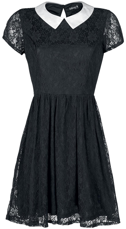Gothicana by EMP Lace Babydoll Sukienka czarny