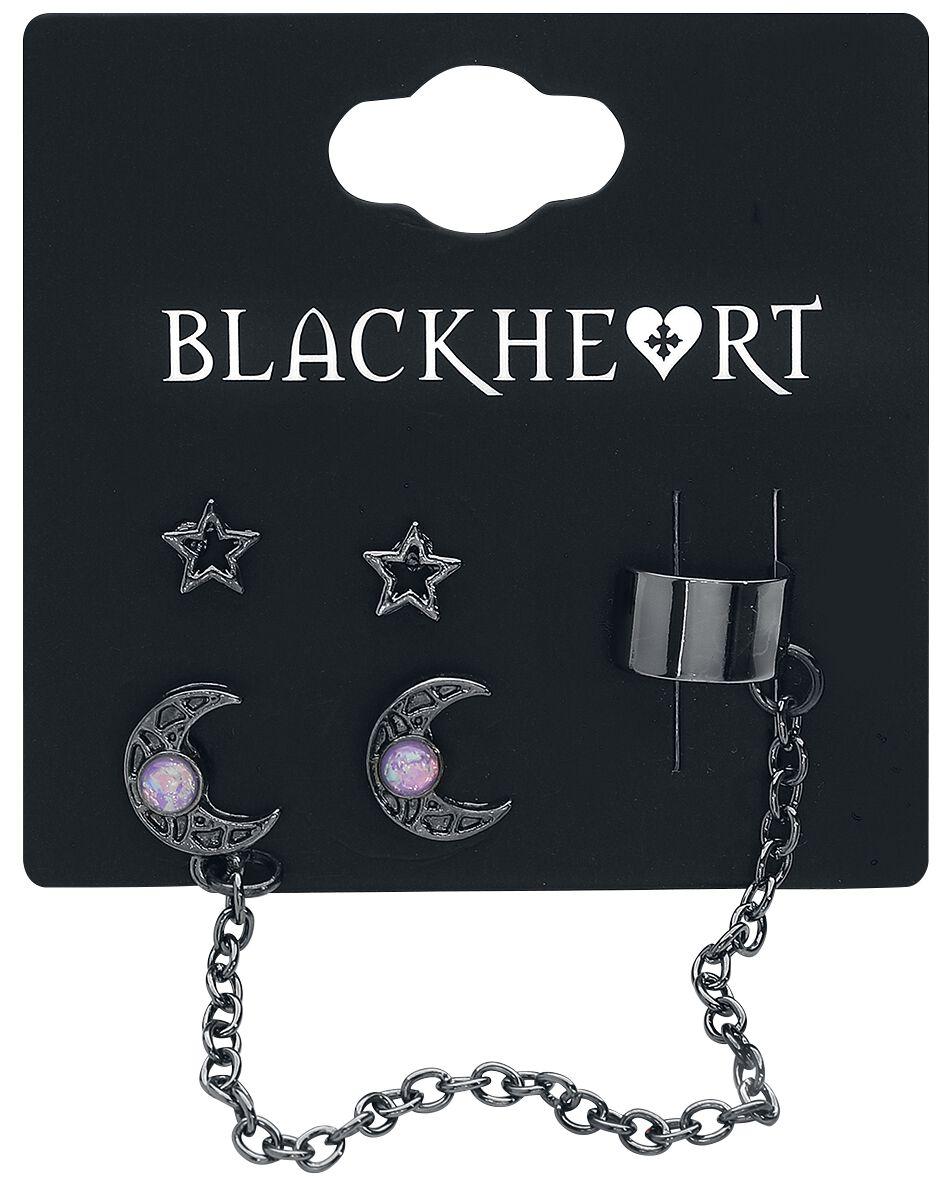 Image of   Blackheart Stars & Moons Ørestik sæt sort