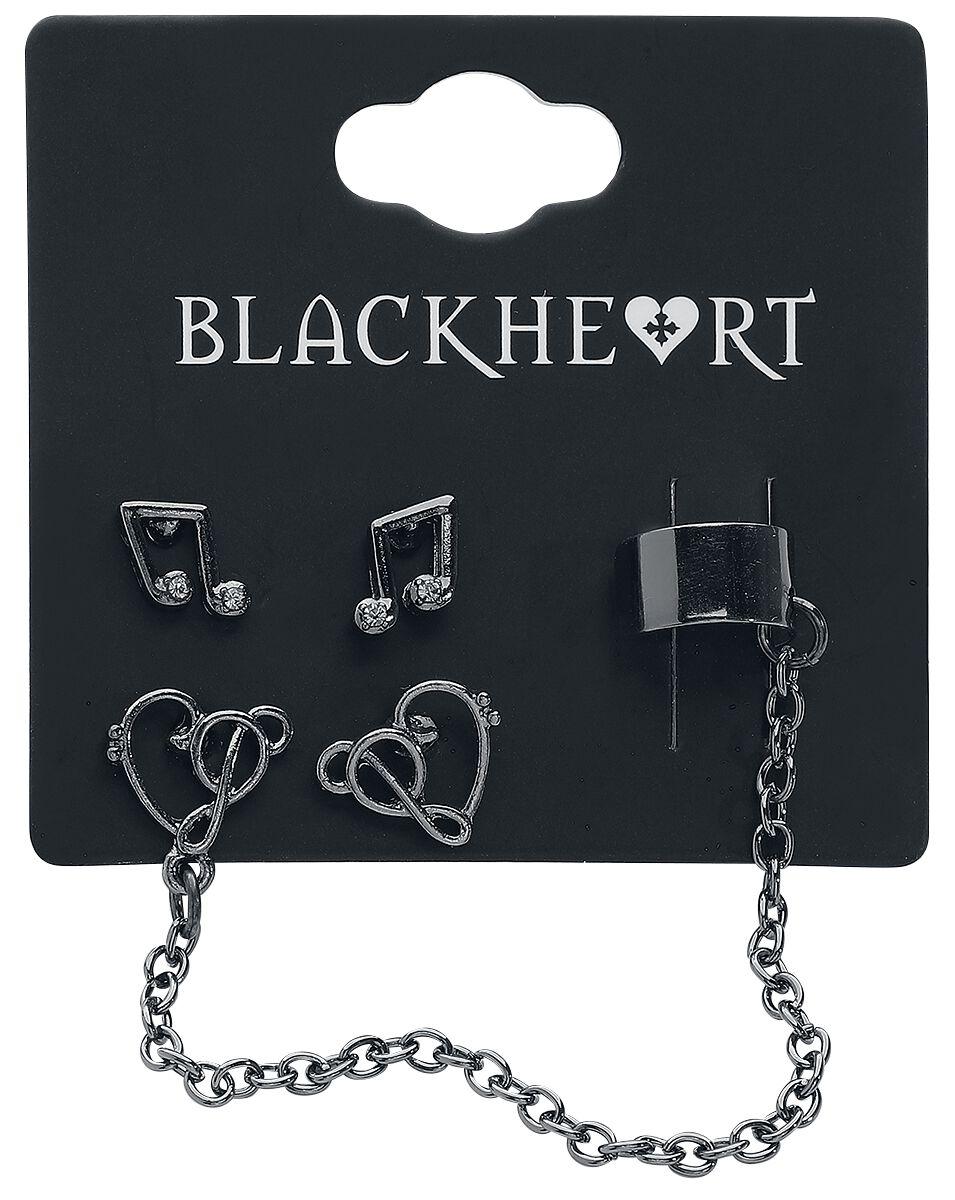 Image of   Blackheart Musician Ørestik sæt sølvfarvet