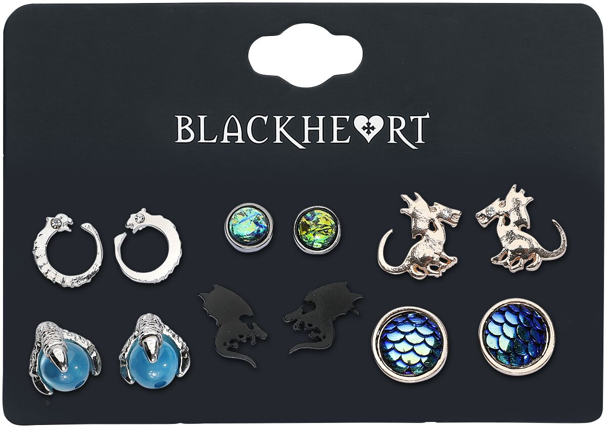 Image of   Blackheart Dragon Collection Ørestik sæt multifarvet