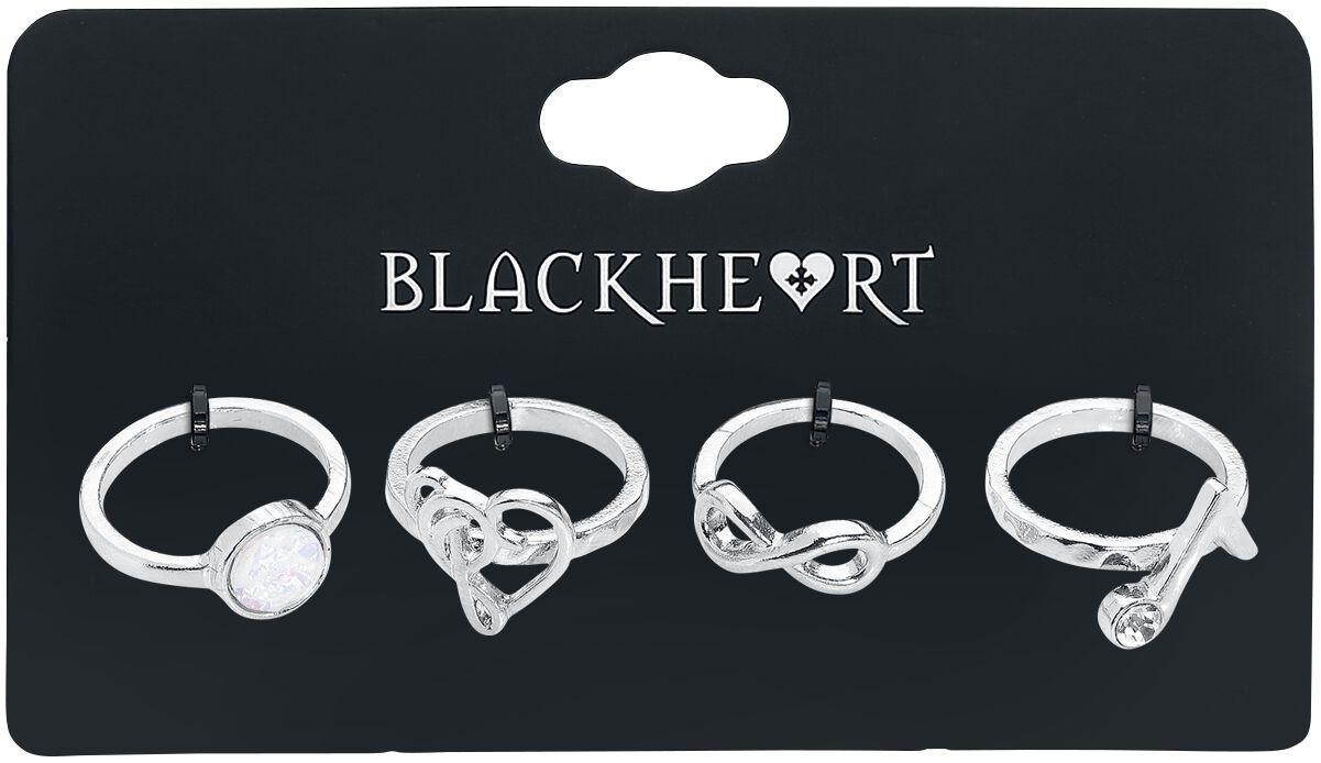 Image of   Blackheart Infinite Music Love Ring sølvfarvet