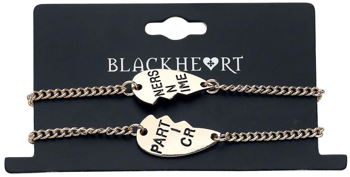 Image of   Blackheart Partners In Crime Armbånd, sæt guld