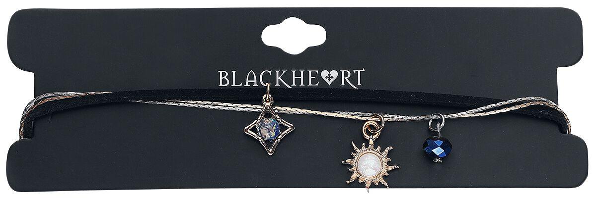 Image of   Blackheart Sun, Star & Moon Halskæde multifarvet