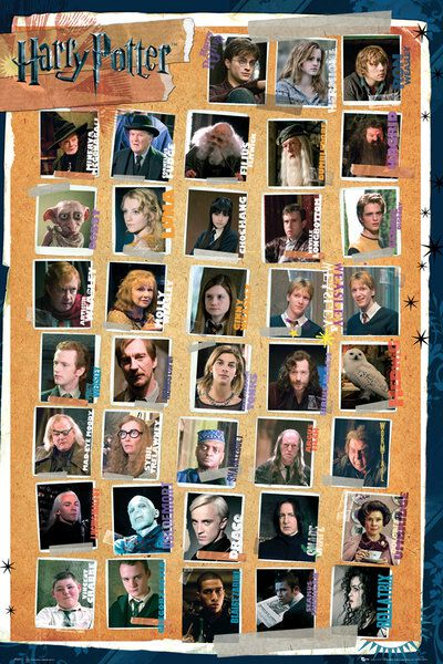 Image of   Harry Potter Characters Plakat Standard