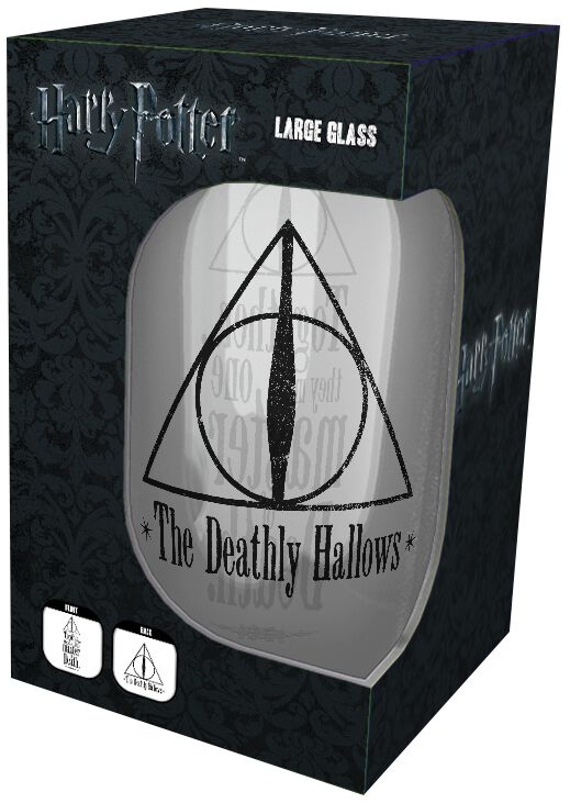 Image of   Harry Potter Deathly Hallows Ølglas gennemsigtig