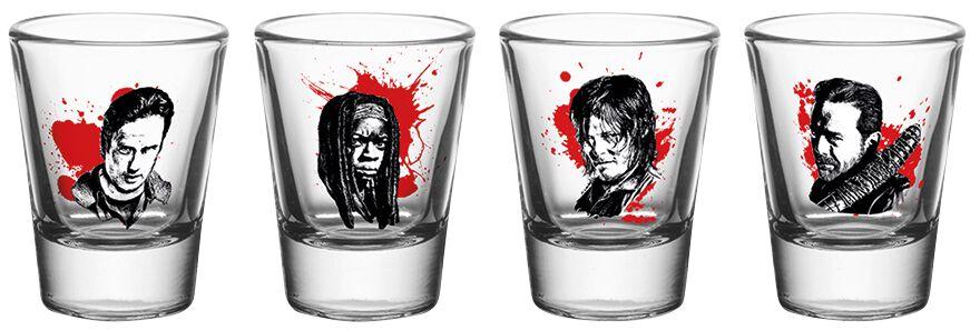Image of   The Walking Dead Characters Shotglas, sæt gennemsigtig
