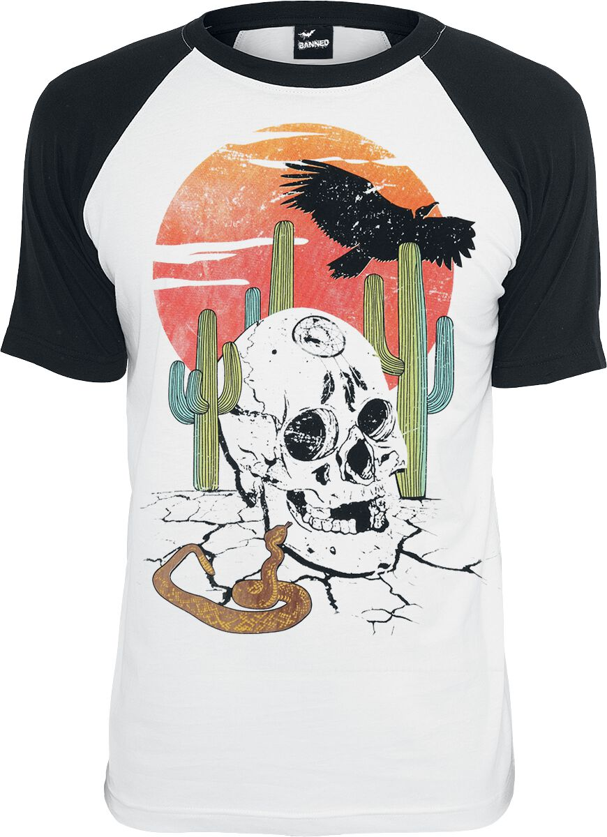 Image of   Banned Sundown T-Shirt hvid