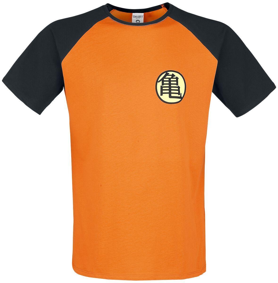 Merch dla Fanów - Koszulki - T-Shirt Dragon Ball Z - Kame Symbol T-Shirt pomarańczowy/czarny - 352525