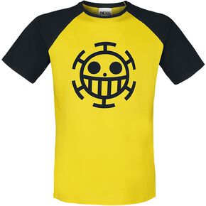 One Piece Trafalgar Law T-shirt jaune/noir