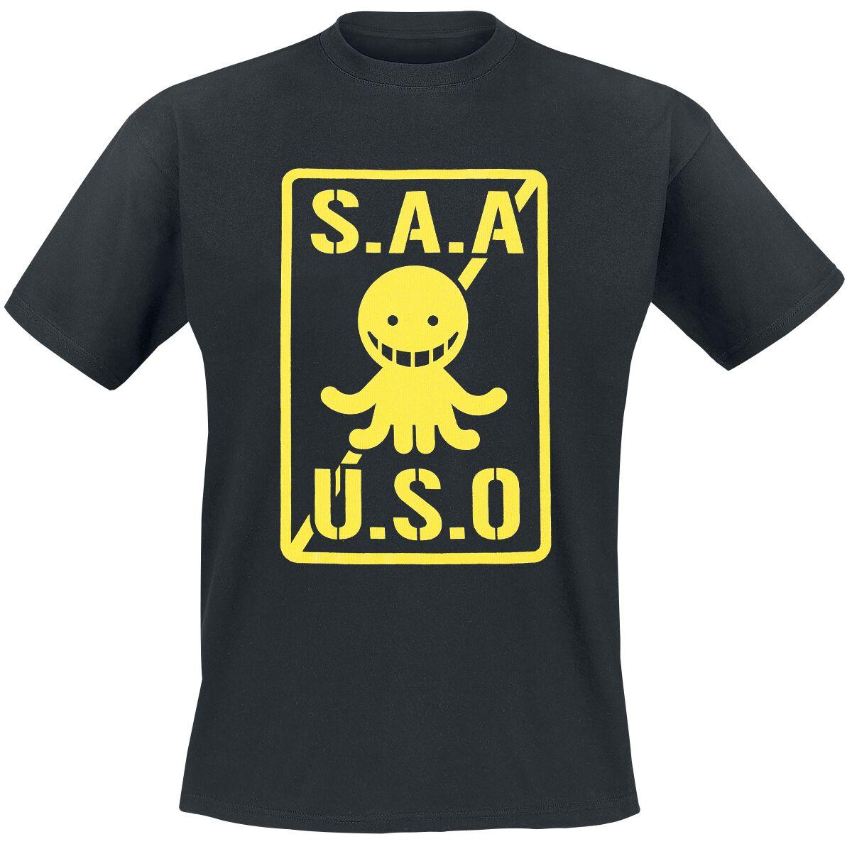 Merch dla Fanów - Koszulki - T-Shirt Assassination Classroom S.A.A.U.S.O. T-Shirt czarny - 352544