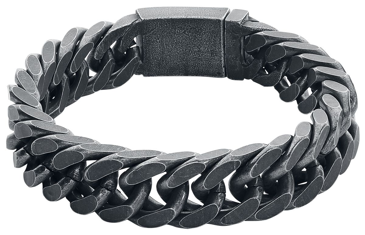 Basics - Bransoletki - Bransoletka - Łańcuch etNox Hard and Heavy Heavy Chain Bransoletka - Łańcuch srebrny - 352556