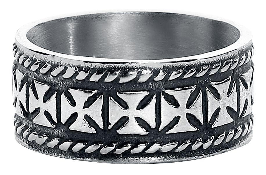 Basics - Pierścienie - Pierścień etNox Iron Crosses Pierścień srebrny - 352585