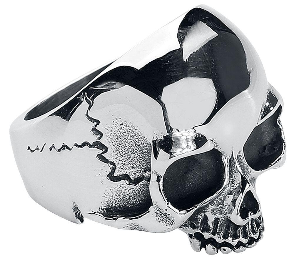 Basics - Pierścienie - Pierścień etNox Hard and Heavy Skull Head Pierścień srebrny - 352589