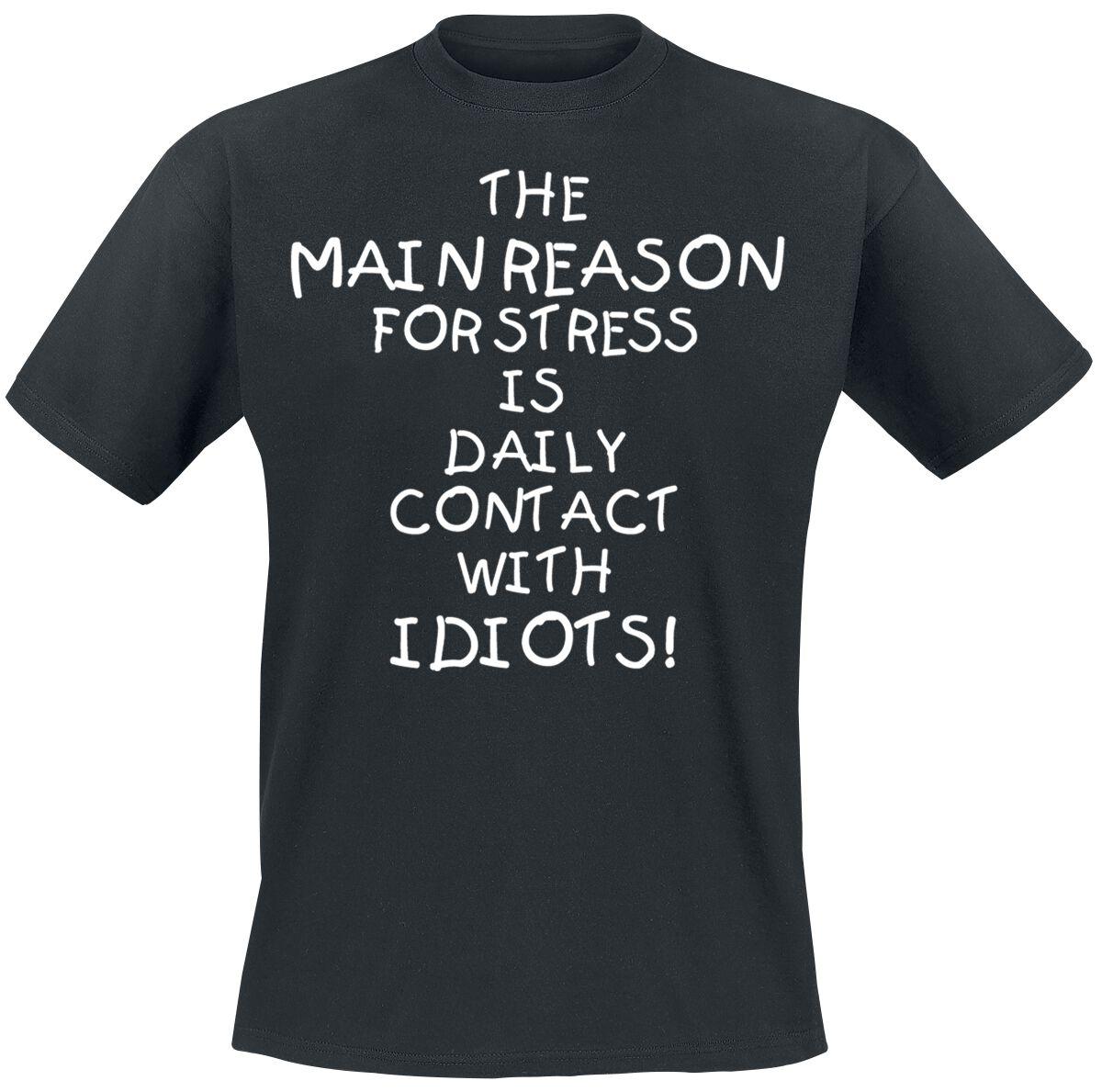 Fun Shirts - Koszulki - T-Shirt Idiots T-Shirt czarny - 352688