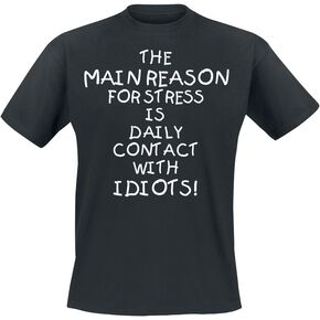 Idiots T-shirt noir