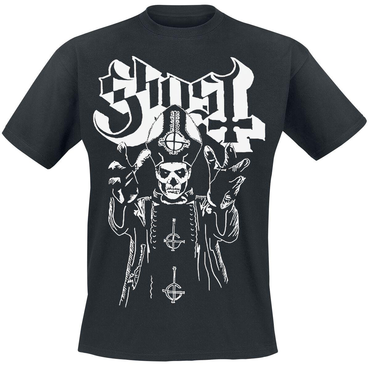 Zespoły - Koszulki - T-Shirt Ghost Pope's Wrath T-Shirt czarny - 352750