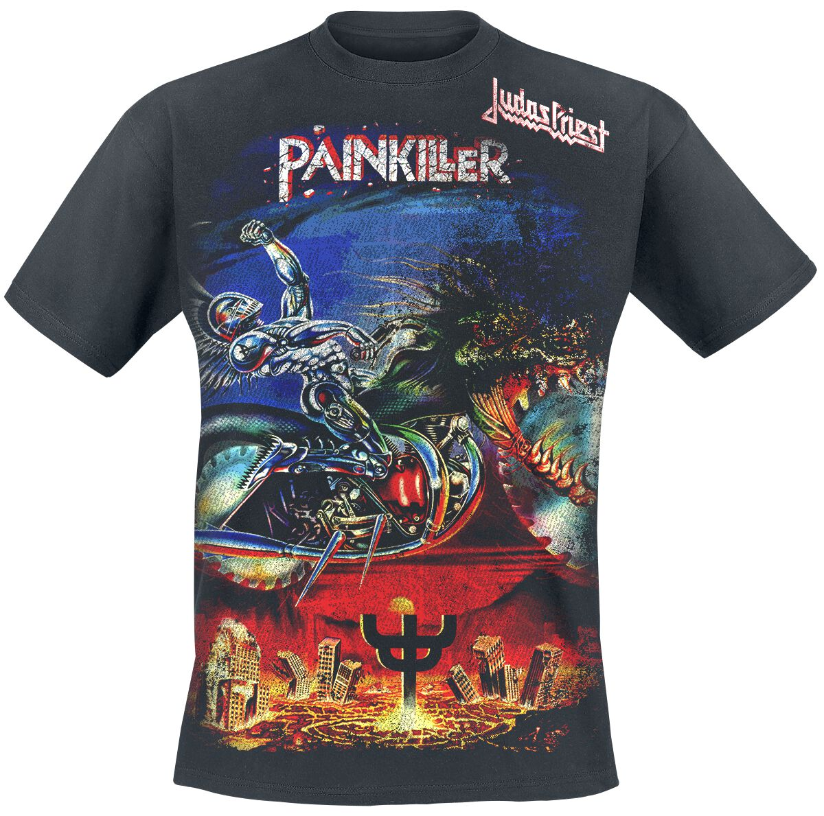 Image of   Judas Priest Painkiller Jumbo T-Shirt sort