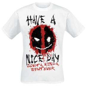 Deadpool Smiley T-shirt blanc