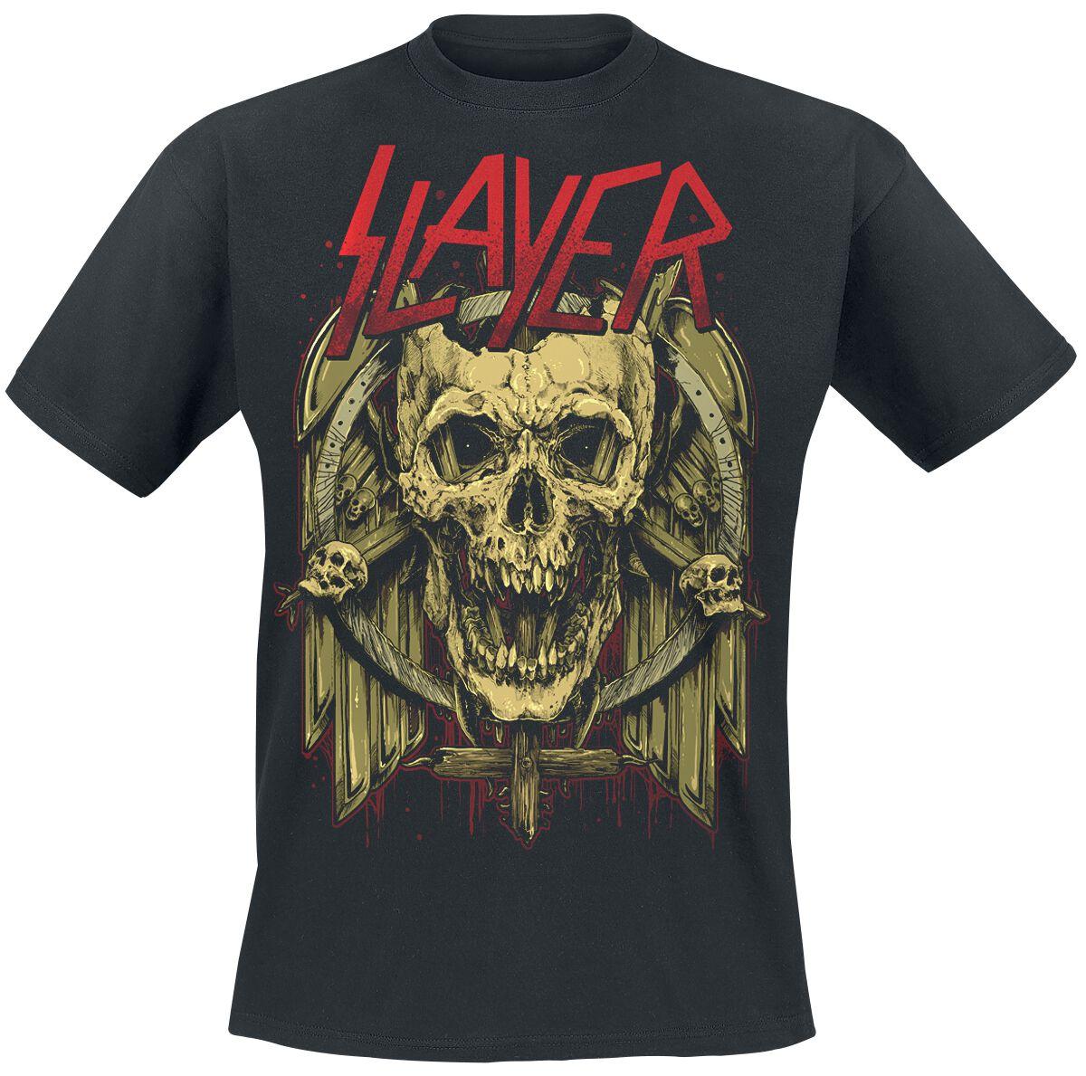 Image of   Slayer Skullwings T-Shirt sort