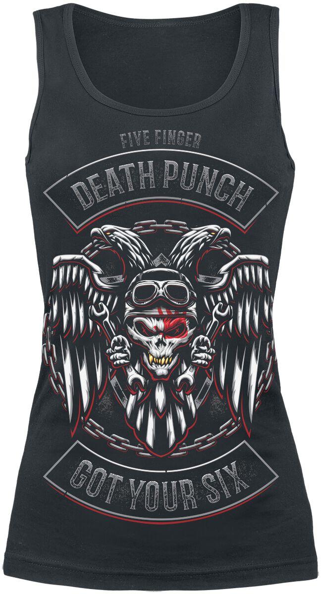 Image of   Five Finger Death Punch Biker Badge Girlie top sort