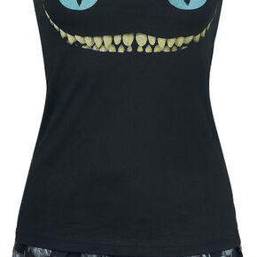 Alice Au Pays Des Merveilles Le Chat Du Cheshire - Smile Pyjama noir