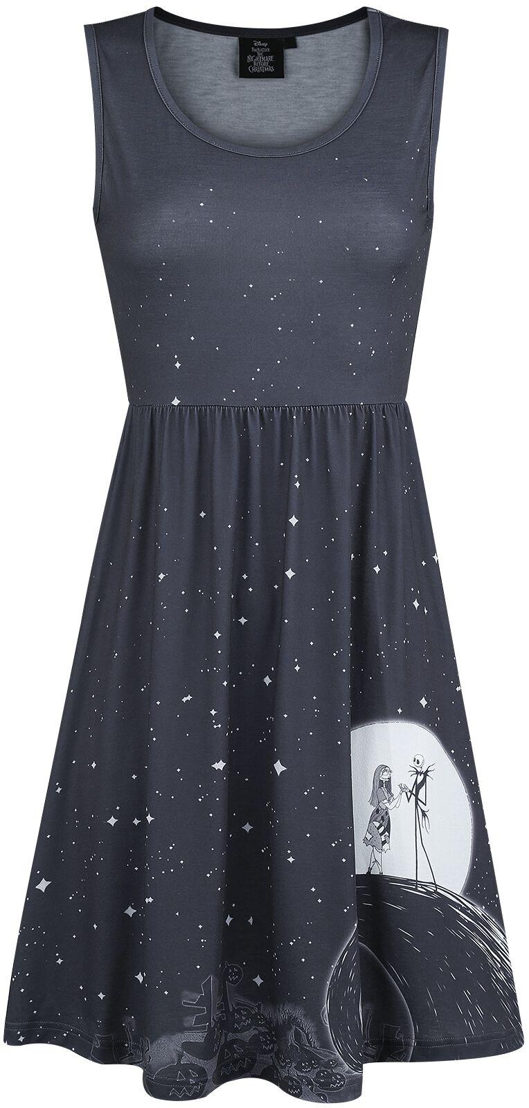 Image of   The Nightmare Before Christmas Moon & Stars Kjole sort