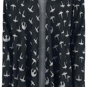 Star Wars Rebel Fleet Cardigan pour Femme noir/gris