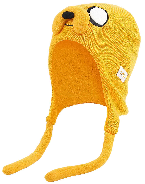 Merch dla Fanów - Czapki i Kapelusze - Czapka Adventure Time Jake Laplander Czapka żółty - 353131