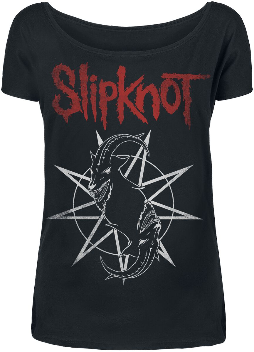 Image of   Slipknot Goat Star Logo Girlie trøje sort
