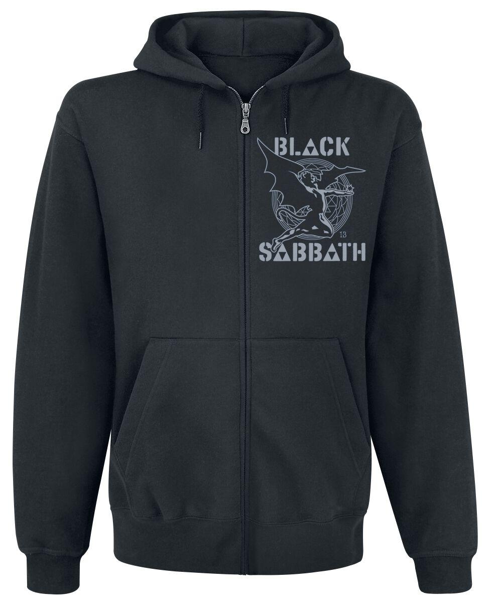 Zespoły - Bluzy z kapturem - Bluza z kapturem rozpinana Black Sabbath Creature Maze Bluza z kapturem rozpinana czarny - 353213